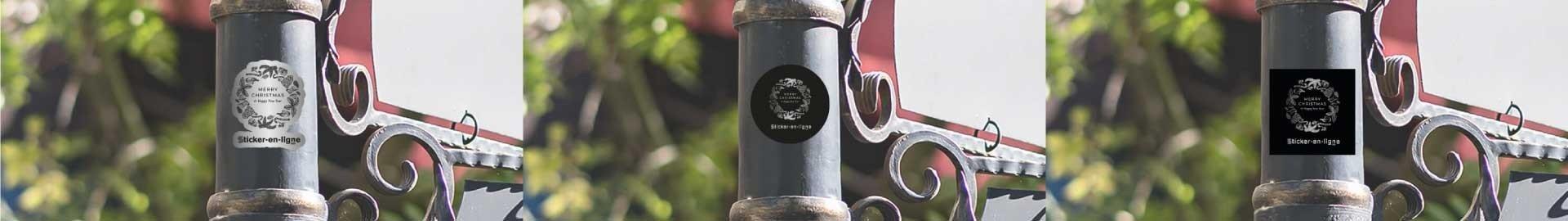 Stickers Vinyle Argent