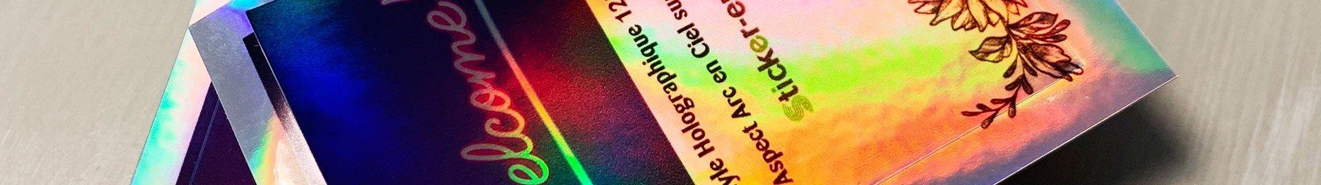 Stickers vinyle Holographique - Aspect Arc en ciel sur les 2 faces