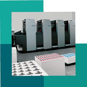 sticker papier offset